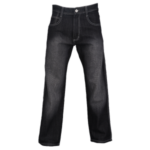 Southpole Relaxed Crosshatch Denim Jeans - Men's - Black Sand