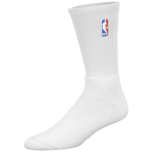 For Bare Feet NBA Logoman Crew Sock - Men's - NBA League Gear - White