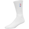 For Bare Feet NBA Logoman Crew Sock - Men's - NBA League Gear - All White / White