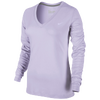 Nike Slim Dri-Fit Cotton Longsleeve V-Neck - Women's - Purple / Purple