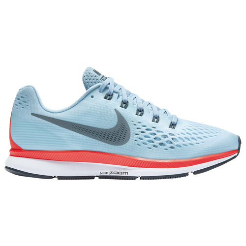 Nike Air Zoom Pegasus 34 Womens Running Shoes Ice Blue/Blue Fox/Bright  Crimson