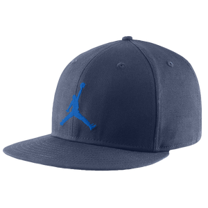 Jordan Jumpman True Fitted Cap - Men's - Obsidian/Photo Blue