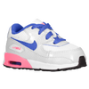 Nike Air Max 90 2007 - Girls' Toddler - White / Blue