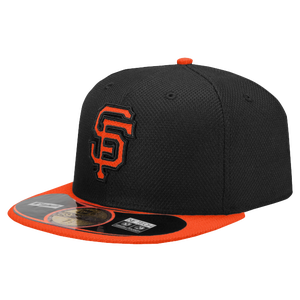 New Era MLB 59Fifty Diamond Era BP Cap - Men's - San Francisco Giants - Black/Orange