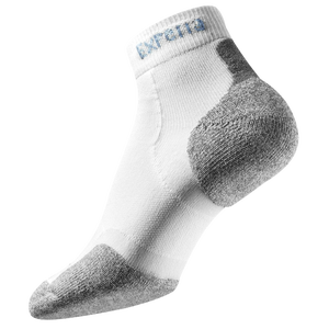 Thorlo Cushioned Heel Mini-Crew Running Socks - White/Grey