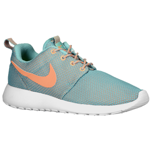 Nike Roshe Run - Women's - Diff Jade/Med Orewood Brown/White/Atomic Orange
