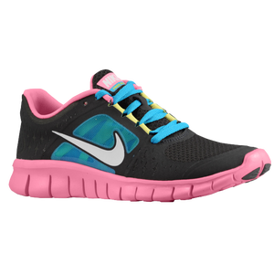 Nike Free Run 3 - Girls' Grade School - Night Stadium/Polarized Pink/White