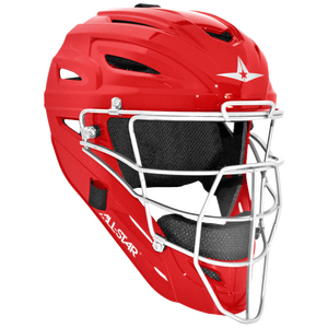 All Star System 7 MVP Catcher's Head Gear - Scarlet