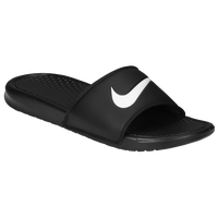 Nike Benassi Swoosh Slide - Men's - Black / White