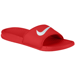 Nike Benassi Swoosh Slide - Men's - University Red/White