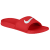 Nike Benassi Swoosh Slide - Men's - Red / White