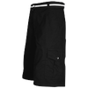Southpole Belted Ripstop Cargo Shorts - Men's - All Black / Black