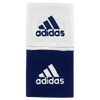 "adidas Interval 3"" Reversible Wristbands - Men's - Navy / White"