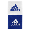 "adidas Interval 3"" Reversible Wristbands - Men's - Blue / White"