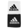 "adidas Interval 3"" Reversible Wristbands - Men's - Black / White"