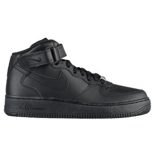 Nike Air Force 1 Mid - Boys' Grade School - Black/Black