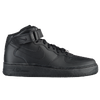 Nike Air Force 1 Mid - Boys' Grade School - All Black / Black