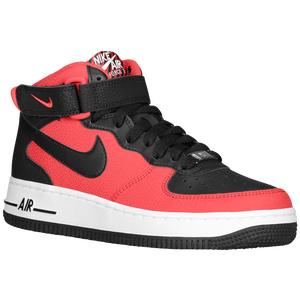 Nike Air Force 1 Mid - Boys' Grade School - University Red/White/Black