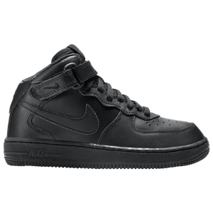 Nike Air Force 1 Mid - Boys' Preschool - Black/Black