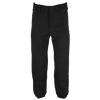 Mizuno Select Belted Fastpitch Pants - Women's - All Black / Black