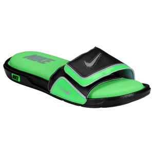 Nike Comfort Slide 2 - Men's - Black/Posion Green/Stadium Grey