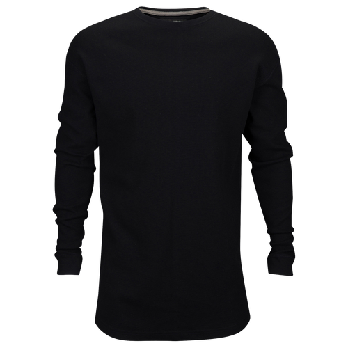 Csg champs sports gear basic long sleeve fine knit thermal for Mens black thermal t shirts