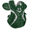 Under Armour Pro Chest Protector - Men's - Dark Green / Silver