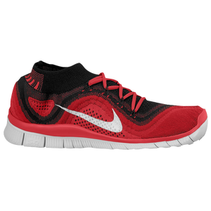 Nike Free Flyknit + - Men's - Black/White/Gym Red