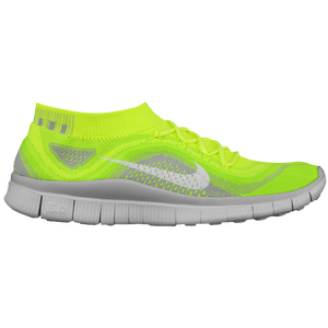 Nike Free Flyknit + - Men's - Volt/White/Electric Green/Wolf Grey