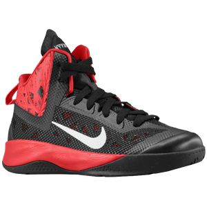 Nike Hyperfuse 2013 - Boys' Grade School - Black/University Red/Metallic Silver