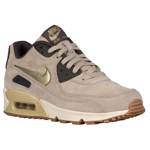 ... nike air max 90 womens running shoes string metallic gold green dark  storm silver ...