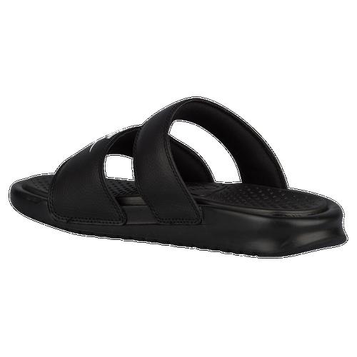 Nike Benassi Duo Ultra Slide Womens Casual Shoes Black/White 60%OFF