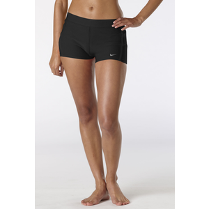 "Nike Dri-Fit 2"" Tempo Boy Short - Women's - Black/Black/Matte Silver"