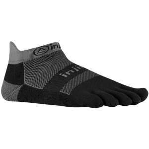 Injinji Midweight No Show Toe Socks - Black/Grey