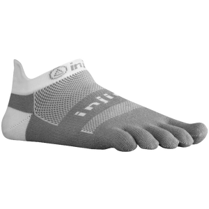 Injinji Midweight No Show Toe Socks - White/Grey