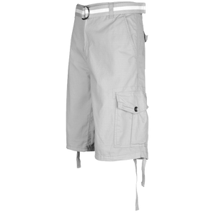Southpole Belted Ripstop Cargo Short - Men's - Light Grey