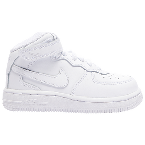 Nike Air Force 1 Mid - Boys' Toddler - White/White