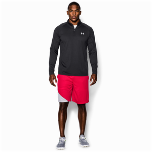 Under Armour Lightweight Tech 1/4 Zip L/S T-Shirt - Men's - Black/White