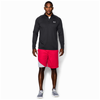 Under Armour Lightweight Tech 1/4 Zip L/S T-Shirt - Men's - All Black / Black