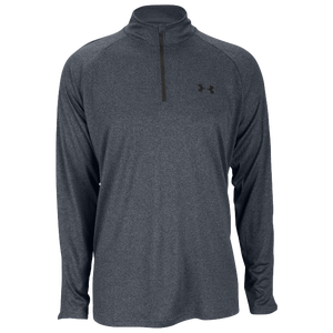 Under Armour Lightweight Tech 1/4 Zip L/S T-Shirt - Men's - Carbon Heather/Black