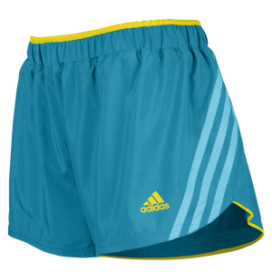 "adidas Climacool Supernova 2.5"" Running Shorts - Women's - Vivid Teal/Vivid Yellow"
