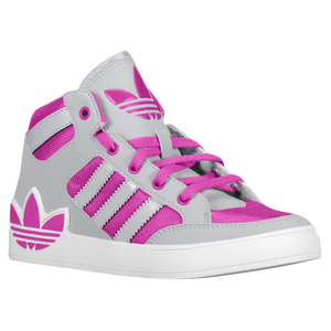 adidas Originals Hard Court Hi - Girls' Grade School - Vivid Pink/Light Onix/White