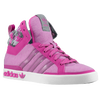 adidas Originals Top Court Hi - Women's - Pink / Grey