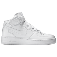 nike air force 1 mid mens all white white af1 white