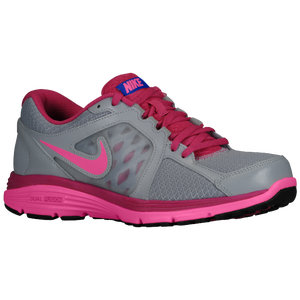 Nike Dual Fusion Run - Women's - Wolf Grey/Fusion Pink/Hyper Blue/Digital Pink