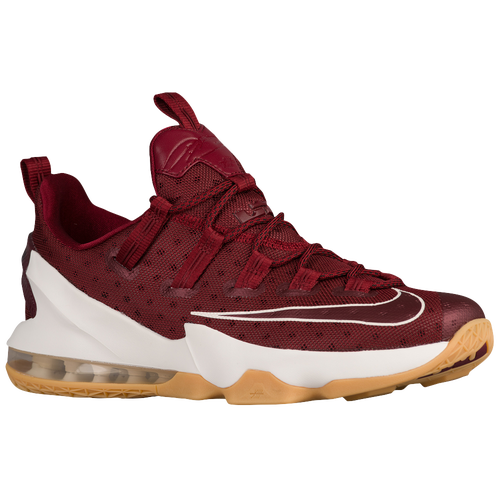 lovely Nike LeBron XIII Low Mens Basketball Shoes James LeBron Team  Red Sail Black 70034197d53