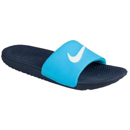 cheap Nike Kawa Slide Womens Casual Shoes Chlorine Blue/White/Obsidian