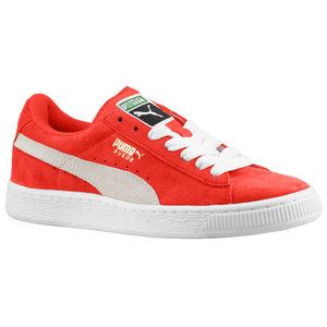 PUMA Suede Classic - Boys' Grade School - High Risk Red/White