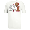 adidas NBA Championship Locker Room T-Shirt - Men's - Miami Heat - White / Tan