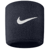 Nike Swoosh Wristbands - Men's - Navy / White